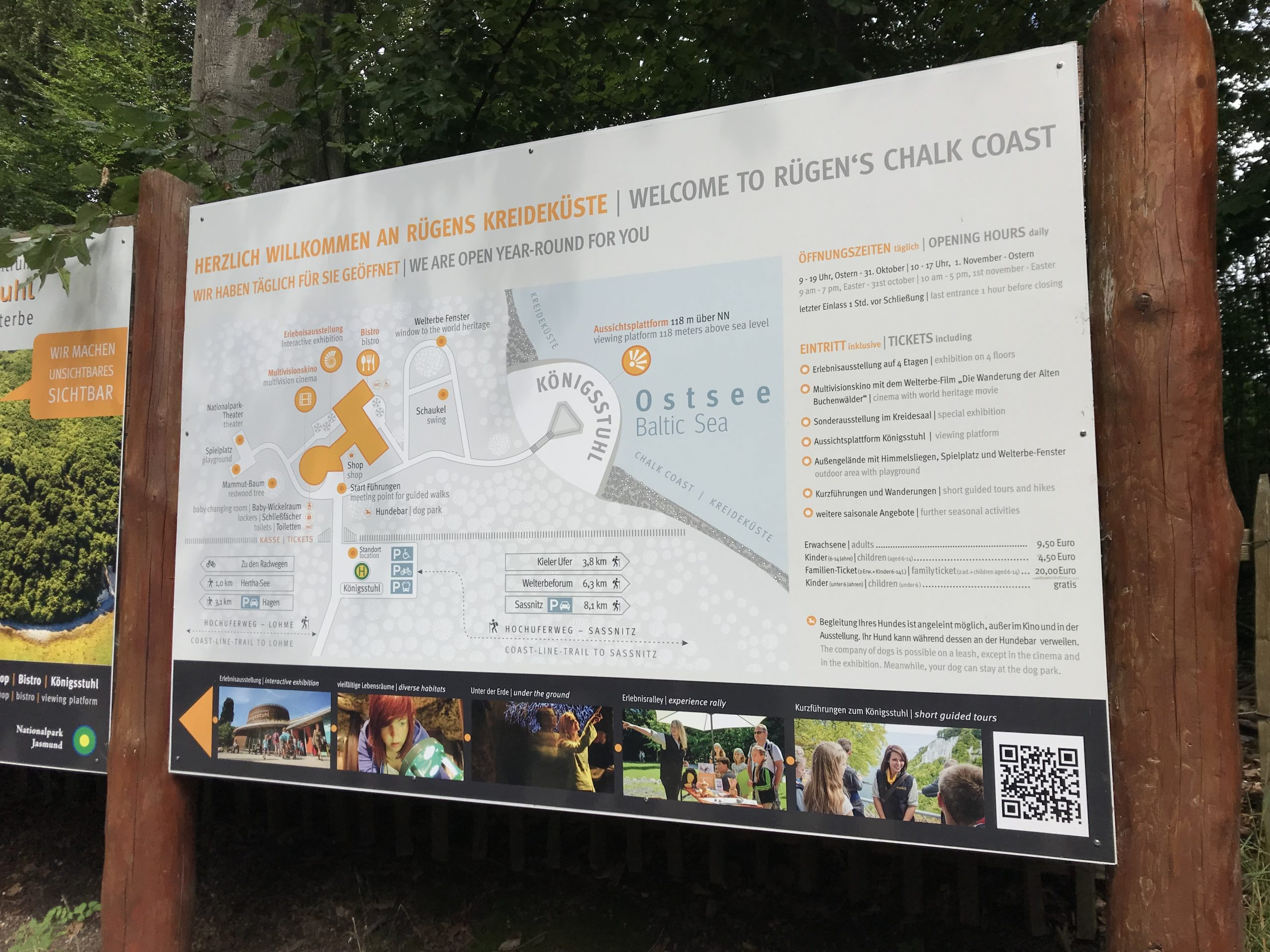 Grosse Stubbenkammer - Informationstafel beim Nationalparkzentrum
