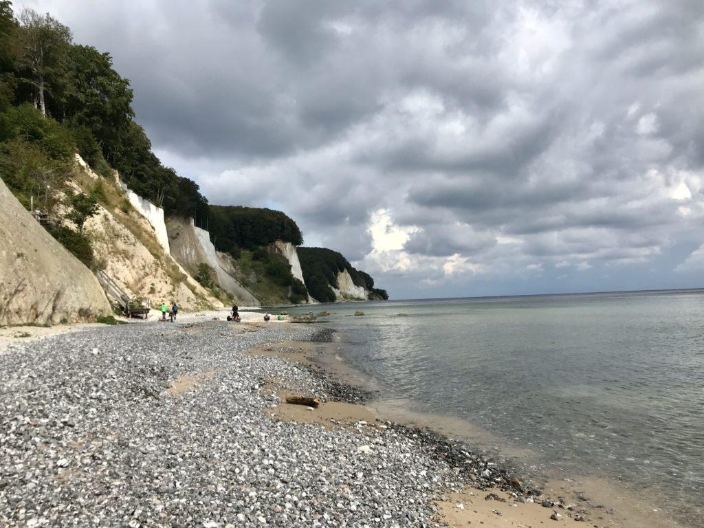 Am Kreidefelsen Strand haben wir Hühnergott, Feuerstein und Kreide gefunden