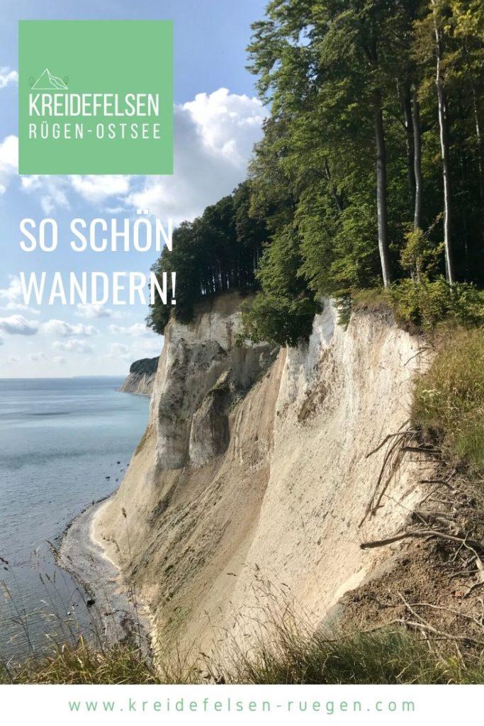 Kreidefelsen Rügen wandern