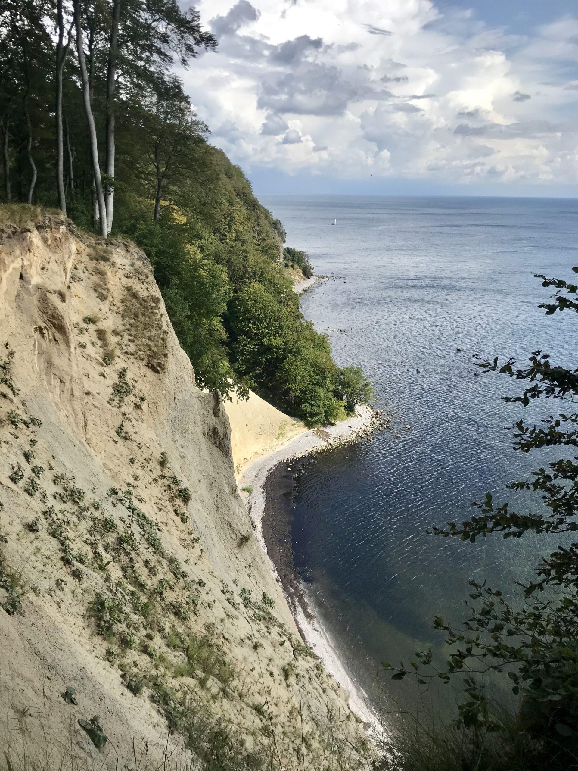 So steil sind die Abbrüche auf der Ostseeinsel
